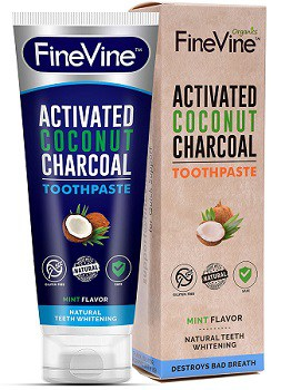 Finevine Charcoal Whitening Toothpaste
